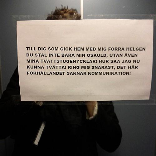 Twitter oskuld narkotika i Stockholm