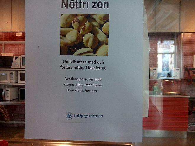 Nussfreie Zone Universität Norrköping
